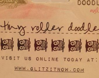 Glitz Brand Roller Stamp --  NEW  --  Owls --  1 piece  --  (#1311)