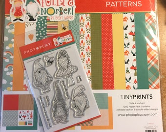 12 x 12 paper and stamp combo ~   Tulla & Norbert   ~      NEW  (#4227)