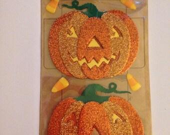 Jolee's Boutique -- Glitter Halloween Pumpkins -- NEW -- (#1838) Halloween