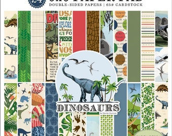 6 x 6 Paper Pad ~ Dinosaurs ~ Double sided NEW (#4135)
