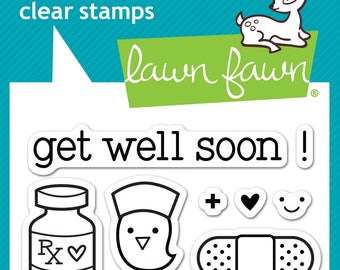 Lawn Fawn --   Get Well Soon  -- NEW -- (#4187)