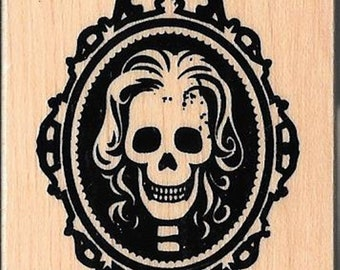Halloween  Stamp --  NEW -- Female Skeleton  --  (#2795)