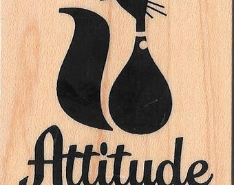 Cat (Attitude) Stamp --   NEW  --  Inkadinkado Brand --   (#2790)