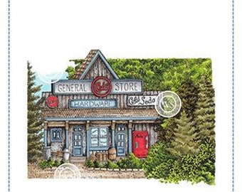 Whimsy Stamps --    General Store  -- NEW -- (#4008)