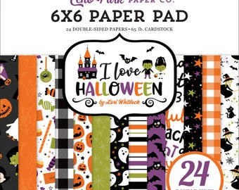 6 x 6 Paper Pad ~ I Love Halloween ~ Double sided NEW (#3866)