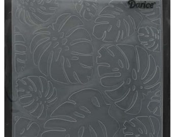Darice Embossing Folder  --  New  --  Tropical Leaf Background  --  (#3909)