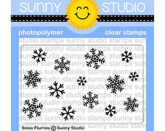 Sunny Studio -- Snow Flurries background stamp -- NEW -- (#3149)
