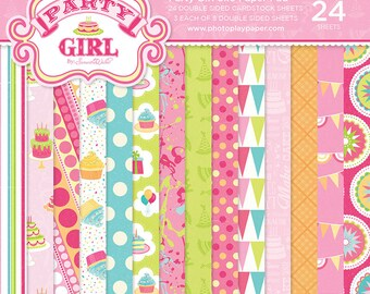 6 x 6 Paper Pad ~ Party Girl ~ Double sided  NEW  (#2662)