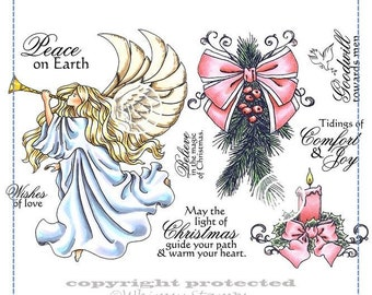 Whimsy Stamps --  Peace on Earth   -- NEW -- (#2945)