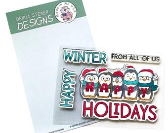 Gerda Steiner Designs --   Happy Holiday Penguin  -- NEW  -- (#4247)