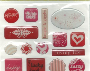 GCD -- Epoxy Stickers -- NEW --   17 pieces  --  dimensional stickers  (#1283)