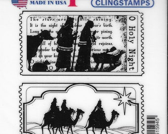 Deep Red Cling Stamps --    Tickets to the Nativity   -- NEW -- (#3876)