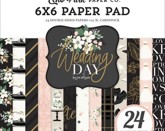6 x 6 Paper Pad ~ Wedding Day ~ Double sided NEW (#3586)