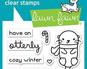 Lawn Fawn --  Winter Otter   -- NEW -- (#4176)