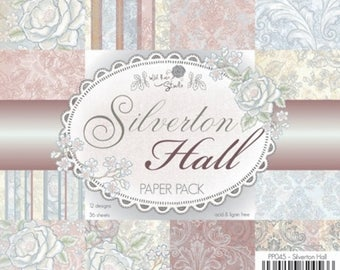 6 x 6  Paper Pad  ~~ Silverton Hall  ~~   Wild Rose Studio Brand  ~~  NEW  (#2374)