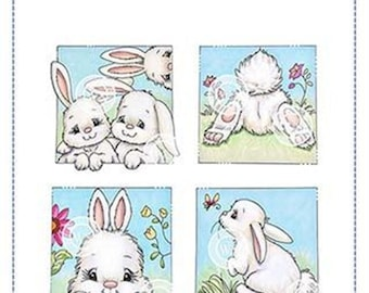 Whimsy Stamps -- Bunny Spring Squares  -- NEW -- (#3132)