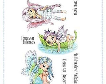 Whimsy Stamps --   Fairy Dreams   -- NEW -- (#4009)