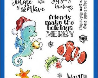 Whimsy Stamps --   Christmas Tidings   -- NEW  -- (#4100)