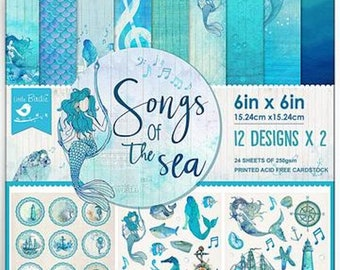 6 x 6 Paper Pad ~ Songs of the Sea ~ Double sided ~ NEW (#4041)