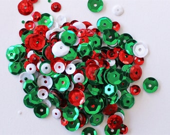 Clear Scraps -- Sequins  -- HOLIDAY -- NEW  (#3538)