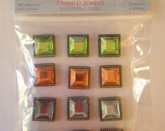 Little Yellow Bicycle  --  Delightful Collection  --  Framed Jewels (Soft)   -- NEW  (#764)