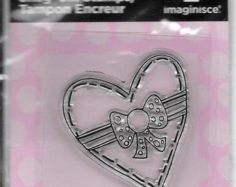 Heart Chocolate Box Acrylic Stamp  --  NEW  --  (#1995)  Valentine