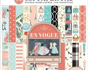 6 x 6 Paper Pad ~ En Vogue ~ Double sided NEW (#3731)