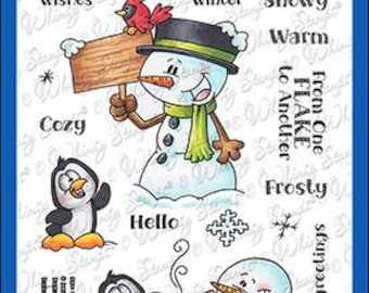 Whimsy Stamps --   Frosty Wishes   -- NEW  -- (#3607)