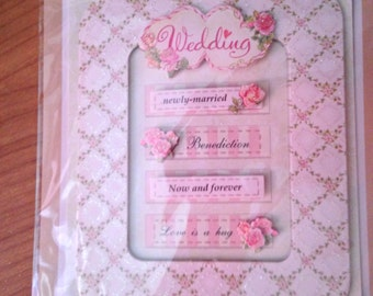 Craft n Craftin'  --  Wedding Frame/Tags -- NEW --  self adhesive dimensional stickers  --  (#1736)