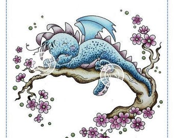 Whimsy Stamps -- Dreamy Dragon -- NEW -- (#2308)
