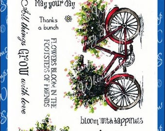 Whimsy Stamps --  Summer Blooms -- NEW  -- (#2405)