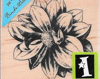 Flower Stamp --  NEW -- wood stamp --  (#2975)