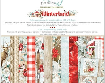 6 x 6 Paper Pad ~ Winterland  ~ Double sided  NEW  (#4037)