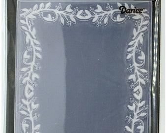Darice Embossing Folder  --  New  --  Leaf Border  --  (#3907)