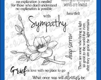 Whimsy Stamps --    Sympathy So Deeply Sorry   -- NEW  -- (#3596)