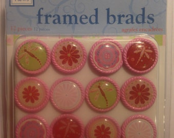 Deja Views -- Framed Brads   -- 12 pieces -- My Sweet Girl -- NEW  (#1554)