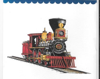 Whimsy Stamps -- Old West Locomotive -- NEW  -- (#2734)