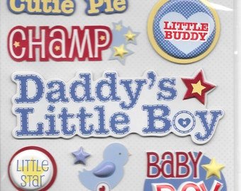 K & Company LLO  -- Baby Boy Cute Names --  NEW --  dimensional stickers  (#1710)