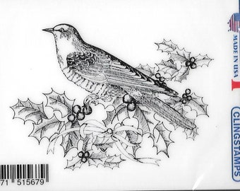 Deep Red Cling Stamps --  Blue Jays -- NEW -- (#2826)