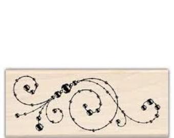 Flourish Stamp --   NEW  -- Wood Mounted Rubber Stamp --  Inkadinkado Brand --   (#987)
