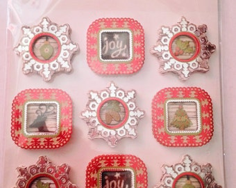 Jolee's Boutique Brand  --  Holiday Frames Repeats   --   NEW  --   (#1769)