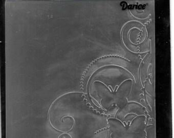 Darice Embossing Folder  --  New  -- Butterfly Swirl --  (#2980)