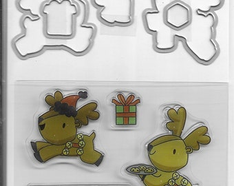 Recollections - Reindeer Die and Stamp set    -  NEW  (#4055)