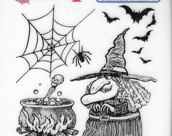 Deep Red Cling Stamps --    Witches Brew   -- NEW -- (#3862)