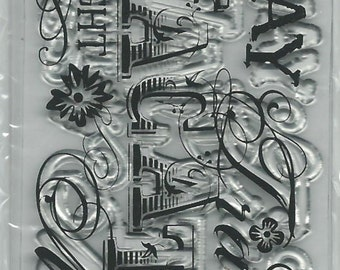 Fiskars Brand Clear Acrylic Stamp   --  NEW --  Wheel Stamp  --  Vacation --  (#935)
