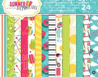 6 x 6 Paper Pad ~ Summer Daydreams ~ Double sided NEW (#2763)