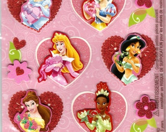 Hallmark --  Disney Princesses  --  Layered Accents  --  2 sheets   --   NEW -- (#1204)