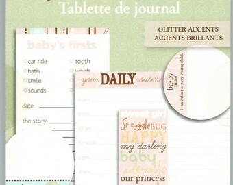 Snugglebug Journal Tablet  --  Girl  --  NEW  --  Little Yellow Bicycle  --  26 tags  --  (#1271)