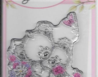 Wild Rose Studio Clear Stamp -- NEW -- Bear Hugs -- (#2157)