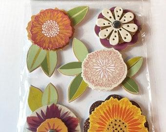 MMBI Brand -- Dimensional Embellishments  -- Harvest Flowers  --  NEW  (#2990)